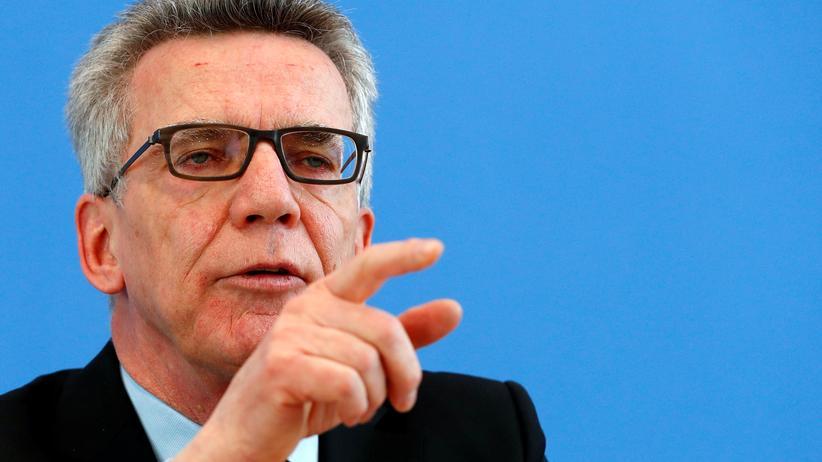 Thomas de Maizière: Bundesinnenminister Thomas de Maizière (CDU)