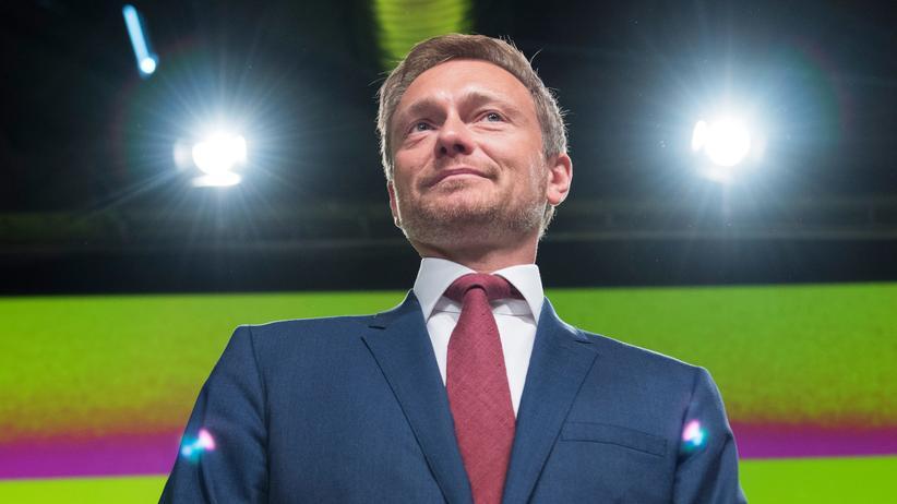 FPD-Parteitag: Christian Lindner ist auf dem Parteitag in Berlin erneut zum FPD-Chef gewählt worden.
