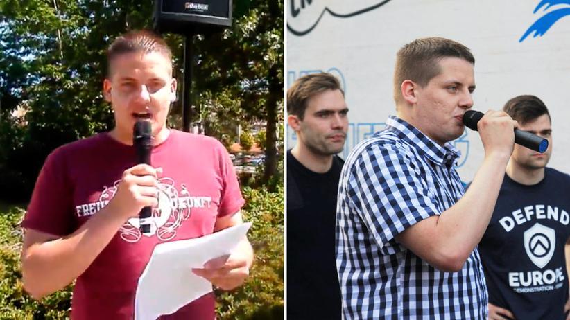 Daniel Fiß: 2013 als Redner der NPD-Jugend in Rostock und 2016 als Redner der Identitären Bewegung in Berlin
