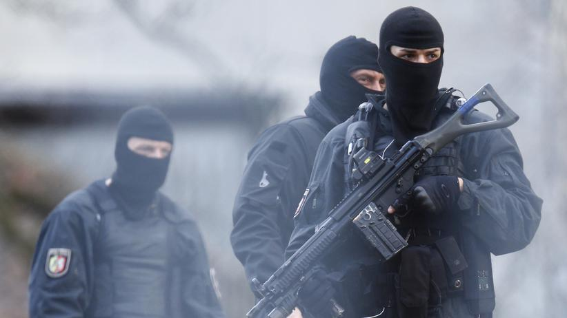 Antiterroreinsatz: SEK-Kräfte im Einsatz
