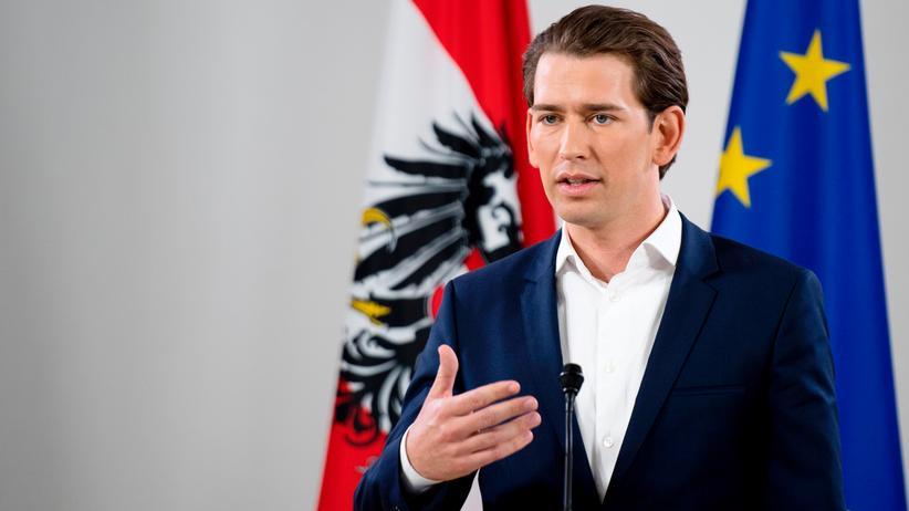 Sebastian Kurz: Sebastian Kurz bei der Pressekonferenz in Wien nach seiner Wahl zum Parteichef