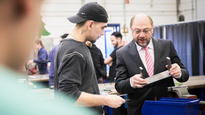 SPD: Martin Schulz zu Besuch bei der Jugendberufshilfe in Essen