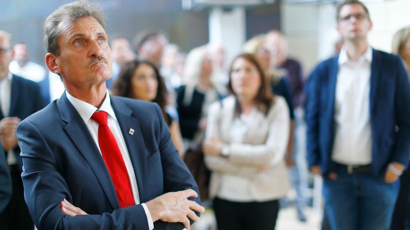 Wahl in NRW: Reaktionen am Wahlabend bei Genossen in Düsseldorf