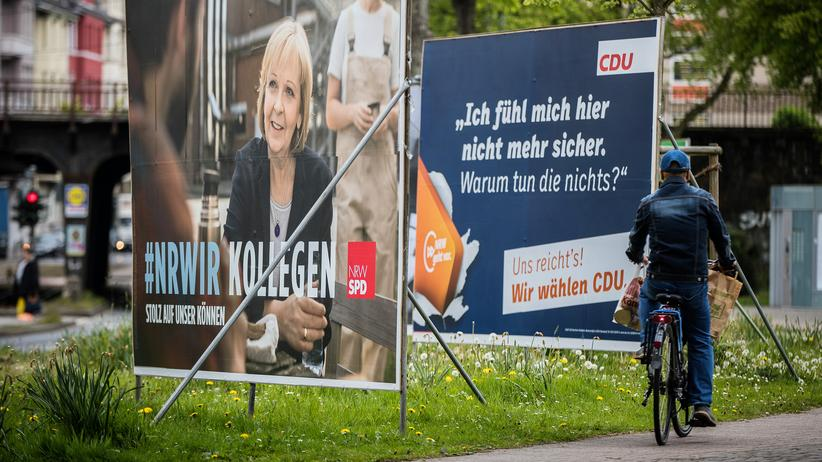 Nordrhein-Westfalen: Wahlplakate in Düsseldorf
