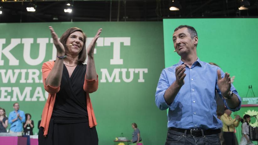 Parteitag: Katrin Göring-Eckardt und Cem Özdemir während des Grünen-Parteitags