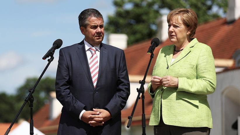 Große Koalition: Angela Merkel (CDU) und ihr Vize-Kanzler Sigmar Gabriel (SPD)