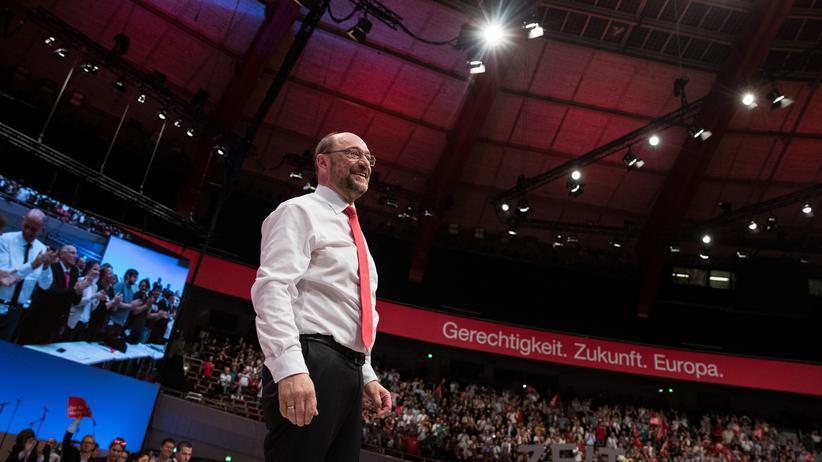 SPD-Parteitag in Dortmund: Martin Schulz, SPD-Kanzlerkandidat, auf dem Parteitag in Dortmund