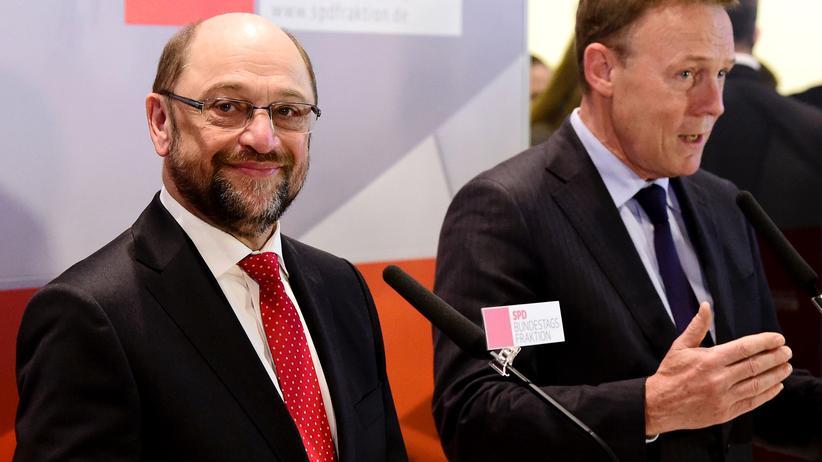 Ehe für alle: Kanzlerkandidat Martin Schulz und und SPD-Fraktionschef Thomas Oppermann