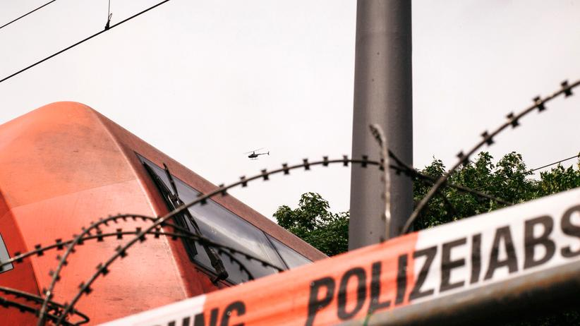 G20-Gipfel: Polizeiabsperrung in Hamburg