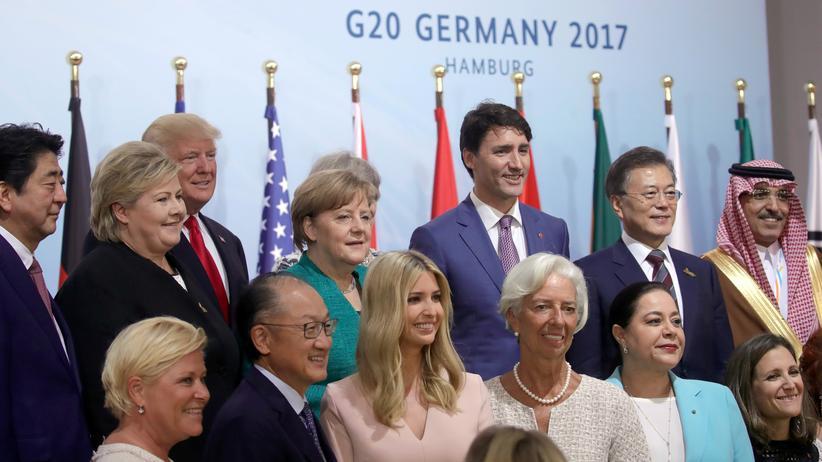 """G20: Ein """"Familienfoto"""" auf dem G20-Gipfel in Hamburg"""