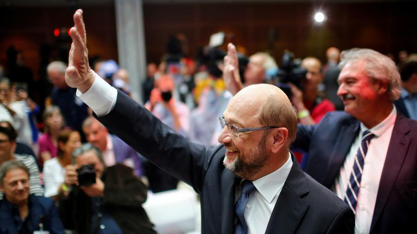 """Martin Schulz: """"Auf der Grundlage dieser Ideen will ich Bundeskanzler werden"""", sagte Schulz über seinen Zukunftsplan für Deutschland."""