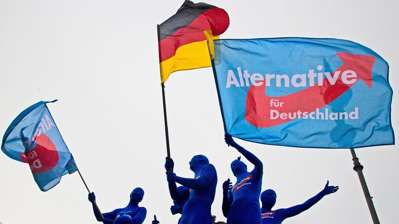 AfD-Wähler: AfD-Anhänger bei einer Werbeaktion in Berlin