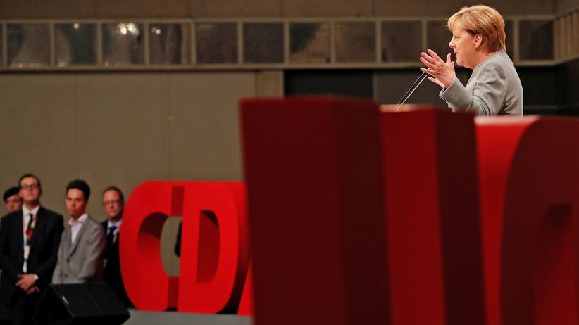 Bundestagswahl: Angela Merkel bei ihrer Wahlkampfrede in Dortmund