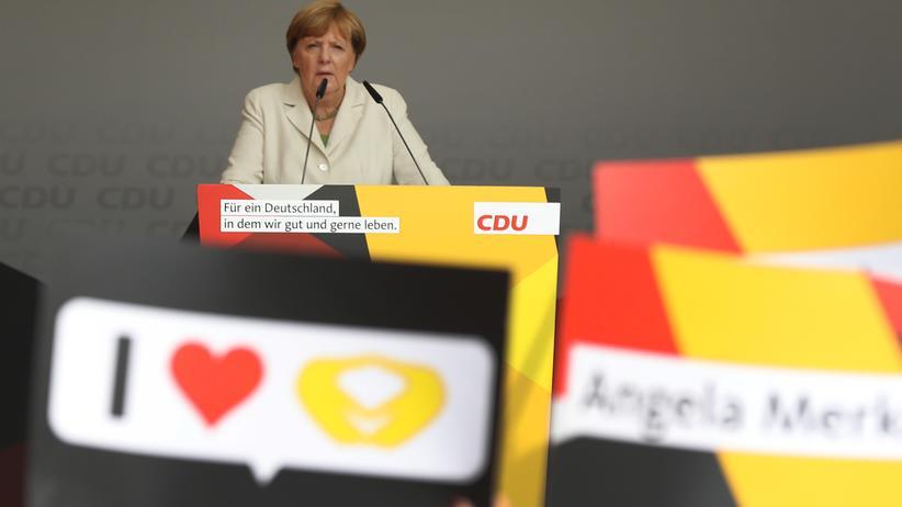 """Bundestagswahl: """"Es ist wichtig, dass wir nicht ganze Orte meiden, weil es dort Schreihälse gibt"""", sagte Merkel."""