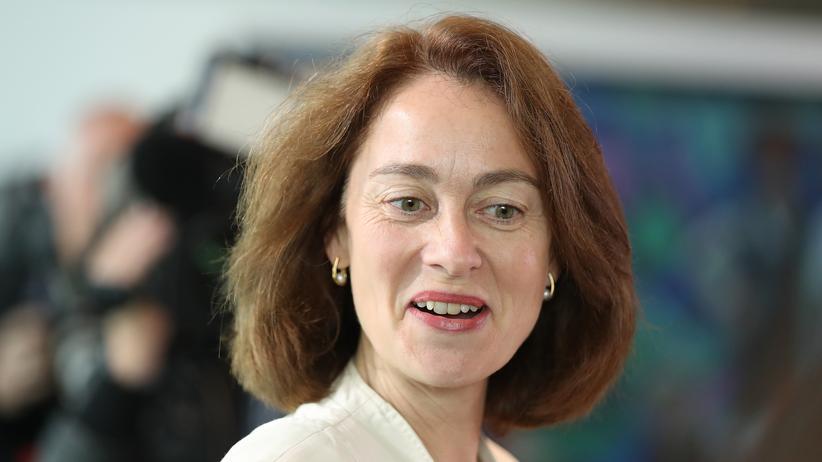 Katarina Barley: Bundesfamilienministerin Katarina Barley (SPD) kommt am 07.06.2017 in Berlin zur Sitzung des Bundeskabinetts im Kanzleramt in Berlin.
