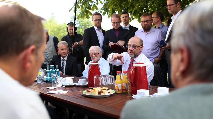 Martin Schulz: Martin Schulz im Mehrgenerationenhaus Jena-Lobeda