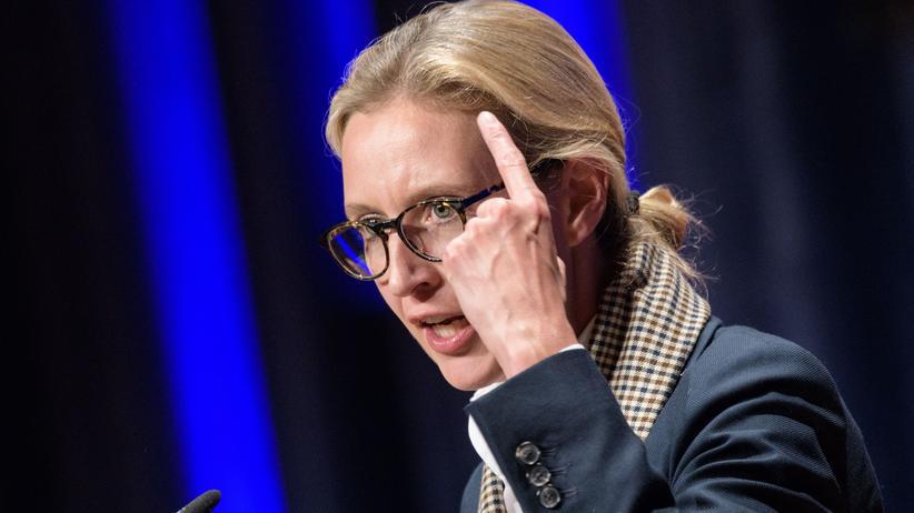 Alternative für Deutschland: Alice Weidel bei einer Wahlkampfveranstaltung in Pforzheim