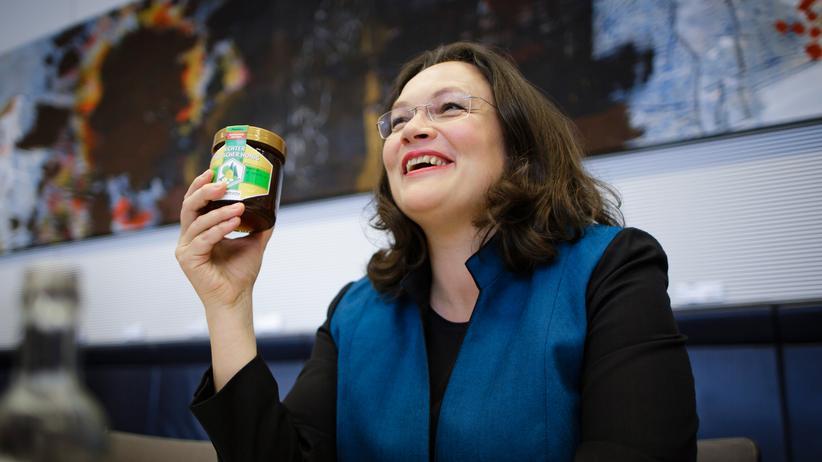 Andrea Nahles: Bisher Bundesministerin, nun Fraktionschefin: Andrea Nahles vor ihrer Wahl