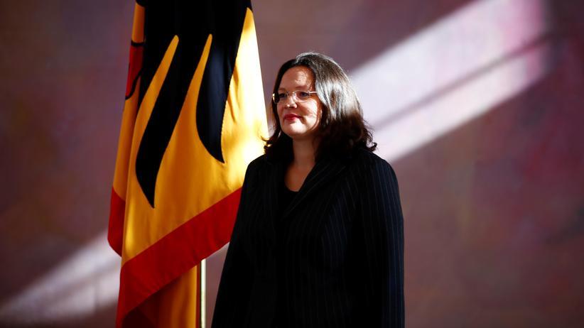 SPD: Andrea Nahles bei ihrer Entlassung als Arbeitsministerin