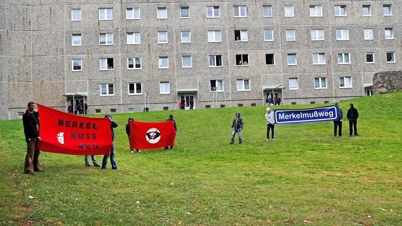 Wahlkampf in Vorpommern: Merkel erneut von Gegnern bepöbelt