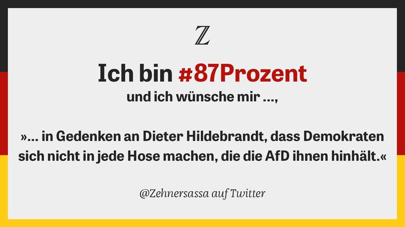 Anti AfD Protest Twitter #87Prozent