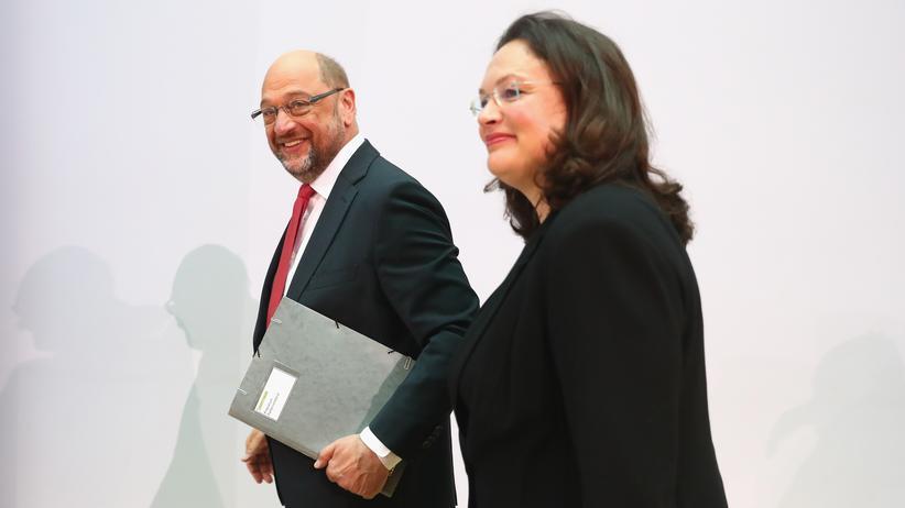 SPD: Martin Schulz und Andrea Nahles am Montag im Willy-Brandt-Haus