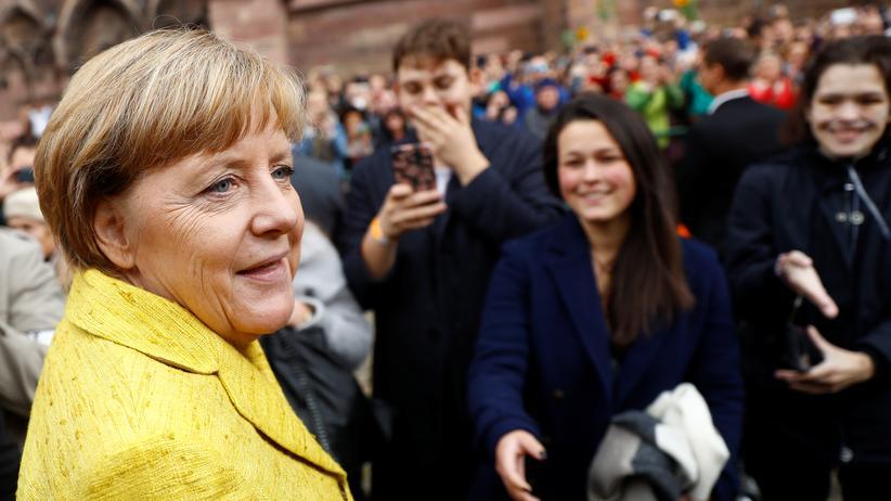 Bundestagswahl: Bundeskanzlerin Angela Merkel