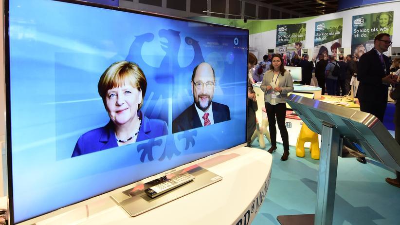 Bundestagswahlkampf: Zum TV-Duell haben Amtsinhaberin Angela Merkel (CDU) und Kanzlerkandidat Martin Schulz (SPD) vor allem Fragen beantwortet, die auf die Abwehr von Migranten zielte, nicht auf deren Integration.
