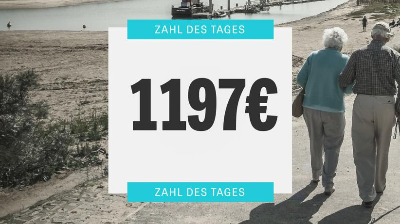 Rente: Die Standardrente beträgt knapp 1200 Euro im Monat
