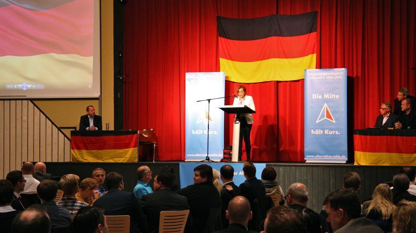 AfD: Beatrix von Storch beim AfD-Treffen in Tettau, Franken