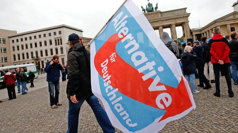 AfD-Wahlkampf: AfD-Wahlkämpfer in Berlin