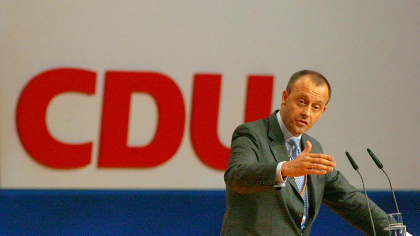 Hans-Olaf Henkel: Henkels Hoffnungsträger: Friedrich Merz 2008 auf einem Bundesparteitag der CDU