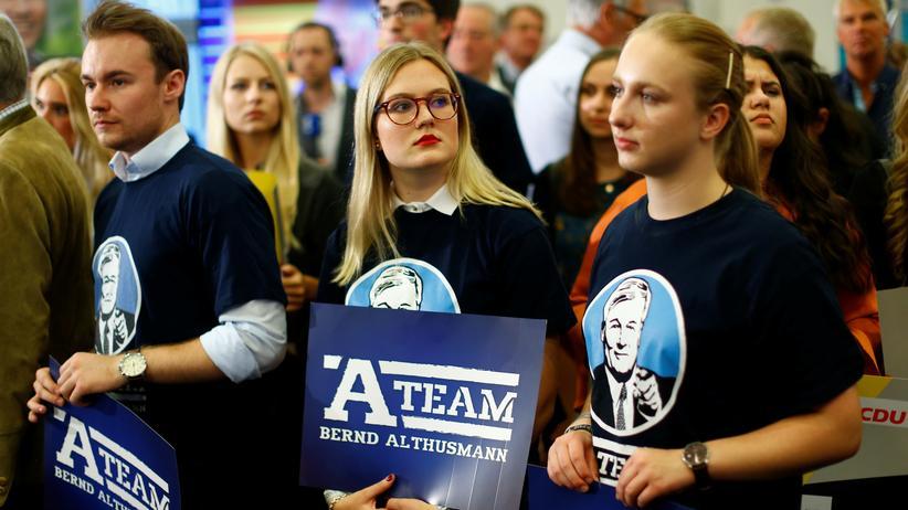 Landtagswahlen in Niedersachsen: Ernüchterung statt Euphorie: Anhänger von CDU-Spitzenkandidat Bernd Althusmann