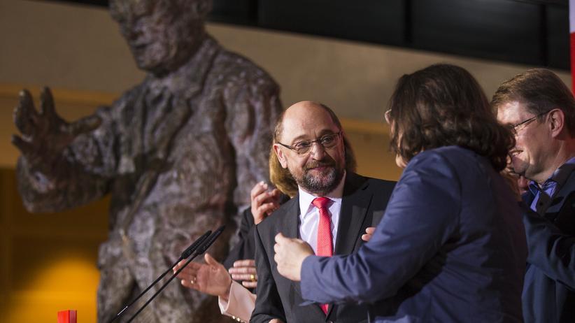 SPD: Martin Schulz am Wahlabend im Willy-Brandt-Haus