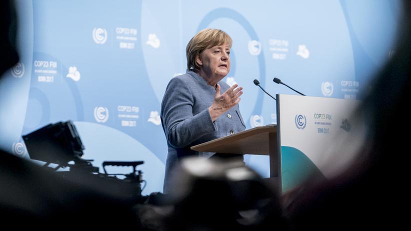 Weltklimakonferenz: Bundeskanzlerin Angela Merkel am 15. November 2017 auf dem UN-Klimagipfel in Bonn