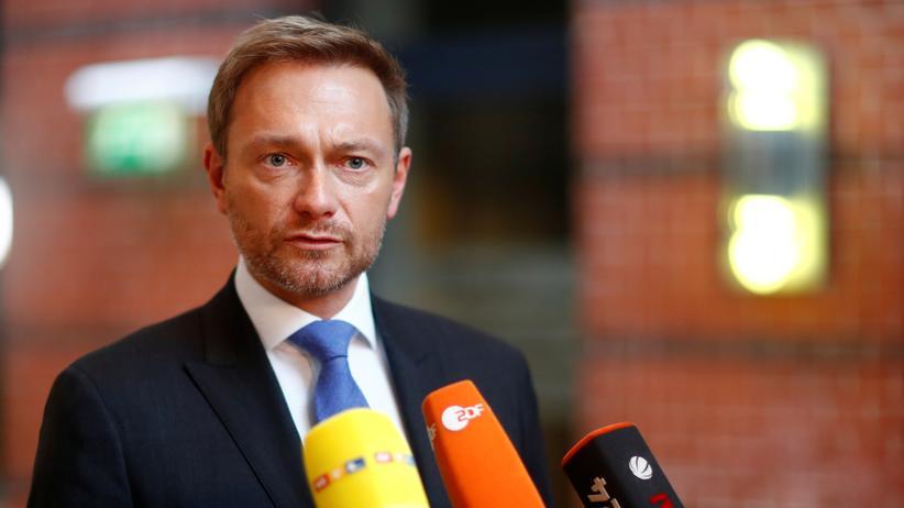 FDP: Christian Lindner (l.) und Angela Merkel bei der ersten Bundestagssitzung nach dem Scheitern der Jamaika-Gespräche