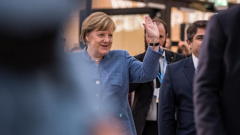 Angela Merkel (CDU) bei ihrer Ankunft beim Klimagipfel in Bonn