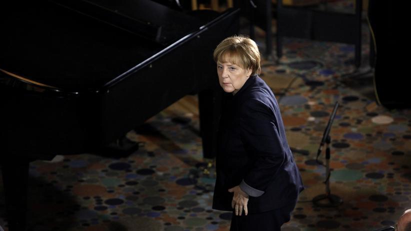 Anschlag am Breitscheidplatz: Bundeskanzlerin Angela Merkel beim Gedenkgottesdienst für die Opfer des Terroranschlags am Berliner Breitscheidplatz