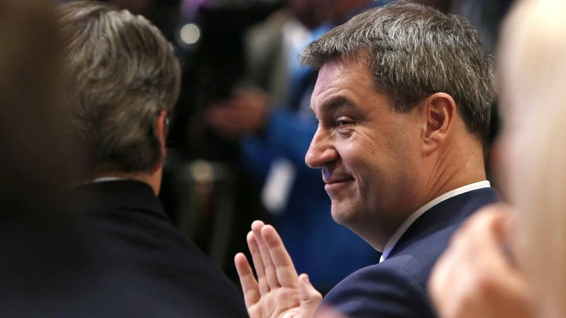 """CSU: Der neue CSU-Spitzenkandidat Markus Söder: Bayern sei """"wie ein großer Baum""""."""