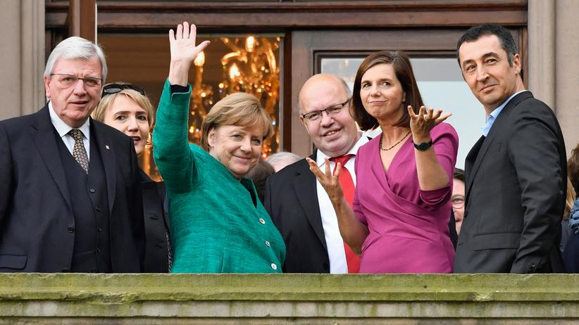 Sondierungsgespräche: Der Sondierungs-Balkon der Deutschen Parlamentarischen Gesellschaft in Berlin