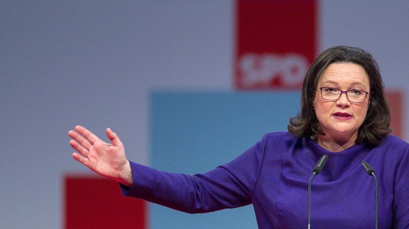 """Große Koalition: Andrea Nahles wollte der Union im Herbst noch """"auf die Fresse"""" geben – nun wirbt sie für eine Regierung mit CDU und CSU."""