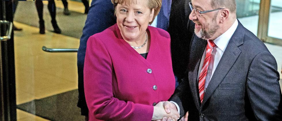 Angela Merkel Martin Schulz Sondierungsgespräche