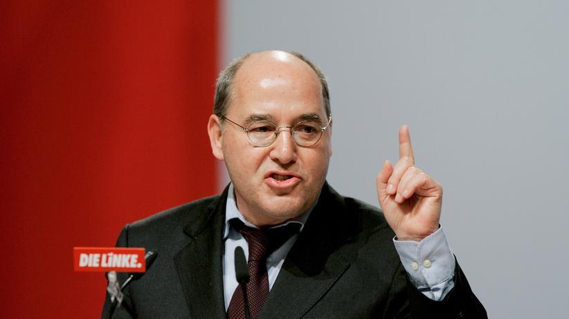 Gregor Gysi: Fraktionschef Gysi 2007 auf einem Parteitag