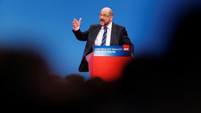 Martin Schulz beim Sonderparteitag zur großen Koalition