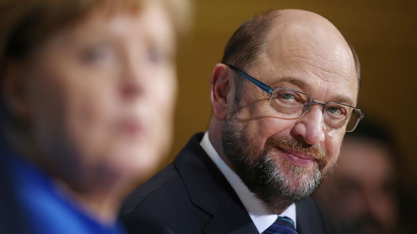 Sondierung: Angela Merkel (CDU) und Martin Schulz (SPD)