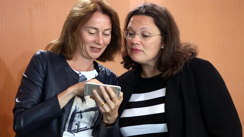 SPD: Katarina Barley (links) und Andrea Nahles