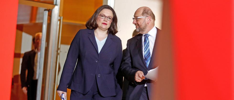 Andrea Nahles Martin Schulz SPD