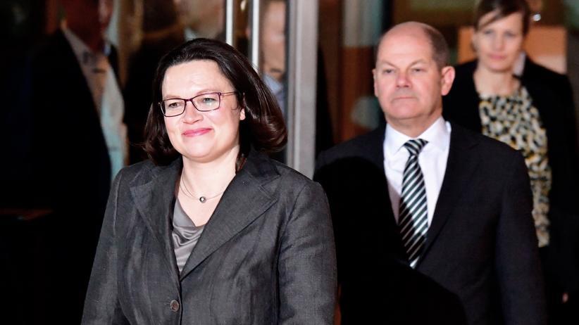 SPD: SPD-Spitze nominiert Nahles für Parteivorsitz