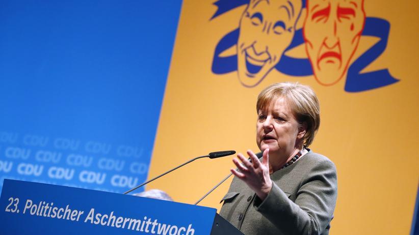 Politischer Aschermittwoch: Merkel verteidigt Ressortverteilung