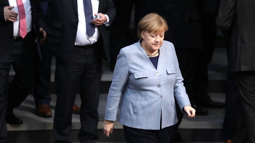 Angela Merkel im Bundestag am 1. Februar 2018.